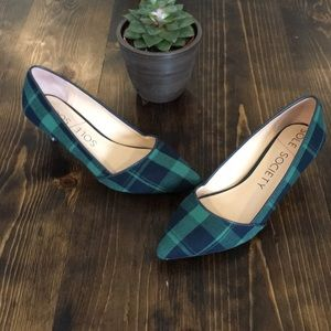 Sole Society - plaid pumps - 8